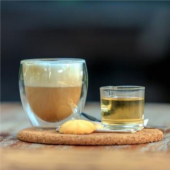 Wholesale Price Heat Resistant Bulk Double Walled Glass Coffee Mug