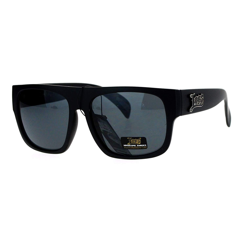 8ff4f16375f Get Quotations · Locs Gangster Flat Top Rectangular Cholo Mens Sunglasses