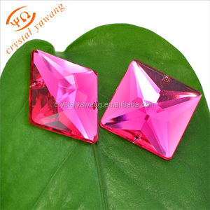 New design resin crystal flower design sew-on glass stones