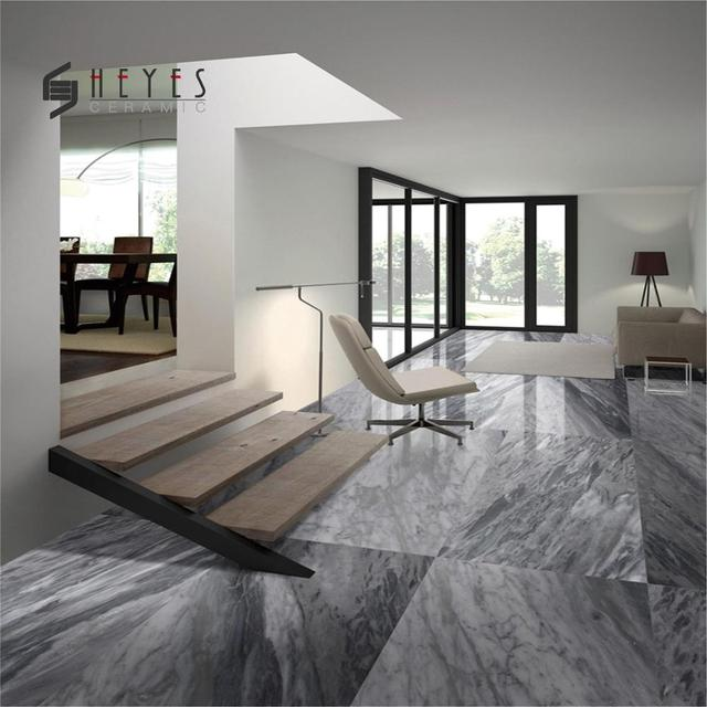 24x48 Grey Ceramic Wall Bathroom Tiles And Marble Effect Flooring
