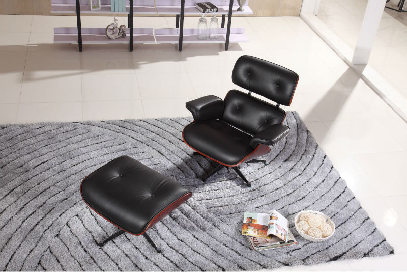 Morden ergonomic executive leather office chair with footrest