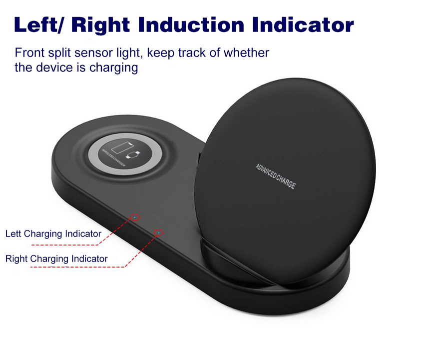 Behenda New product! 5 in 1 Wireless Charger 10W Qi Wireless charging Station for Smart Phone for iphone for iwatch