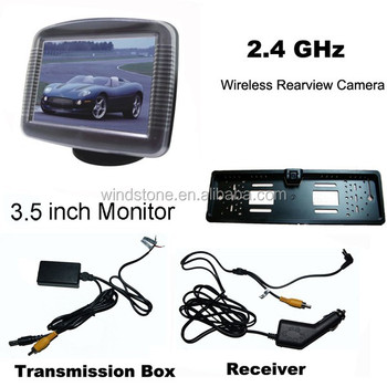 European License Plate Frame Car Wireless Backup Car Camera
