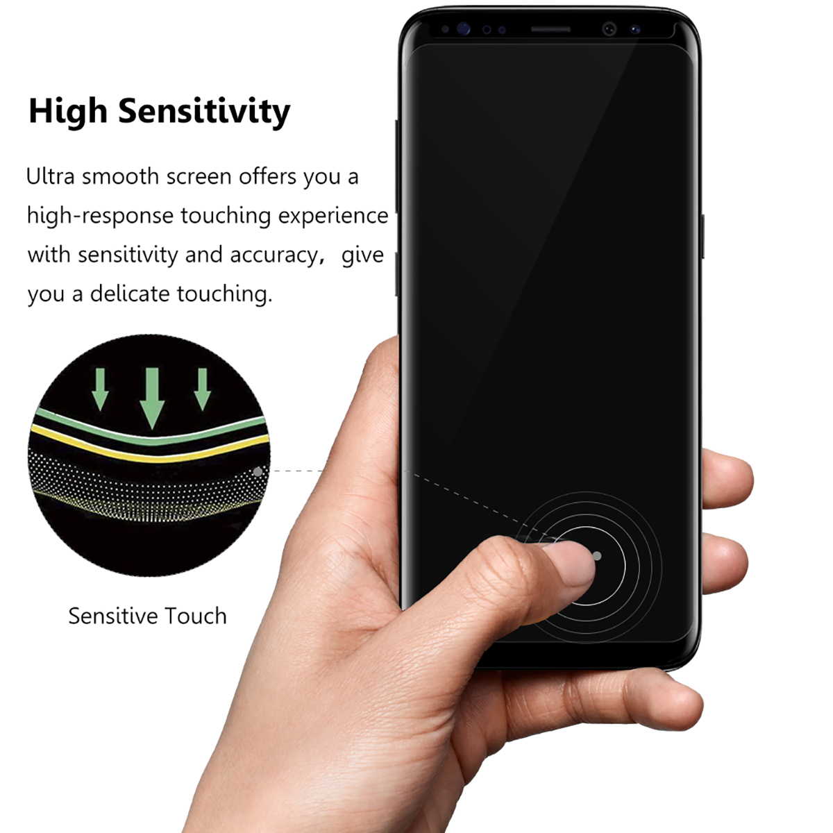 HD clear case friendly 3D 9h 0.33mm anti broken tempered glass screen protector for Samsung Galaxy S8 /S8 Plus