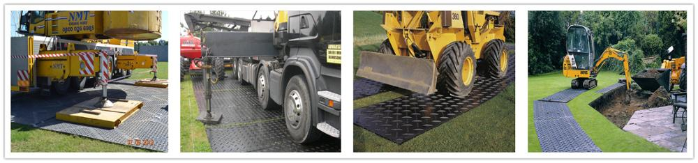1/2 inch thick recycled polyethylene portable ground protection mat road cover mat