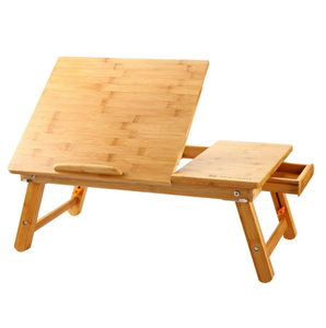 Adjustable 100% Bamboo Laptop Table For Bed