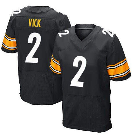 7faa43753c6 Get Quotations · Free Shipping Pittsburgh Jerseys,Mens Elite Michael Vick  Jersey black,White Jerseys Size XS