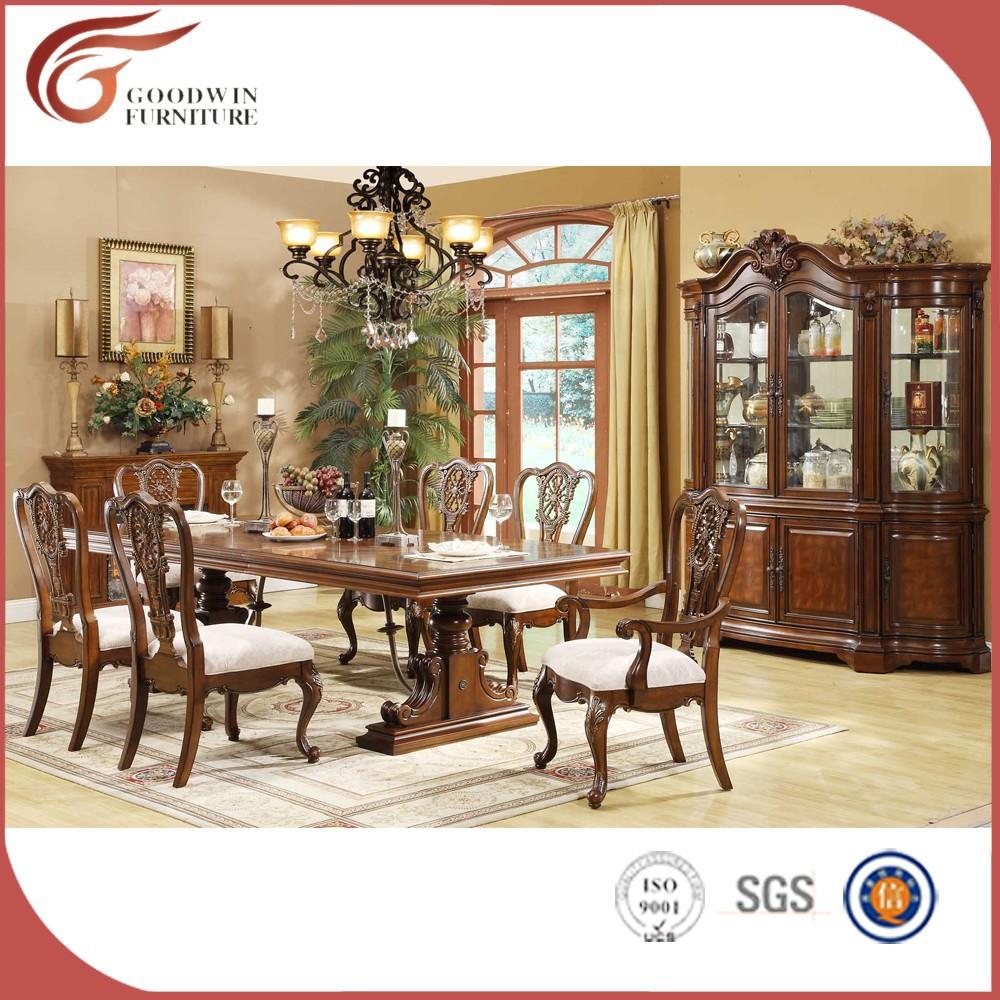 Antiguos de madera de cerezo comedor conjuntos WA163-Sets para Sala ...