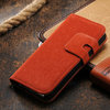 for iphone 5 flip wallet stone grain leather case