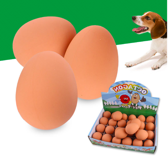 Pet Dental Cleaning Teeth Bite-resistant Rubber Elasticity Egg Dog Bites Chew Toys in Bulk Sales
