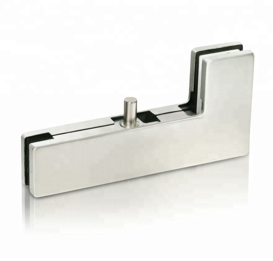 straight pivot L shape glass door clamps patch fittings for swing door