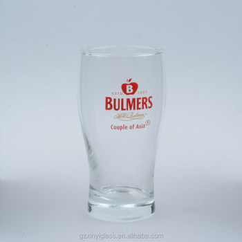 China factory customized beer glasses, shaped pint beer glasses