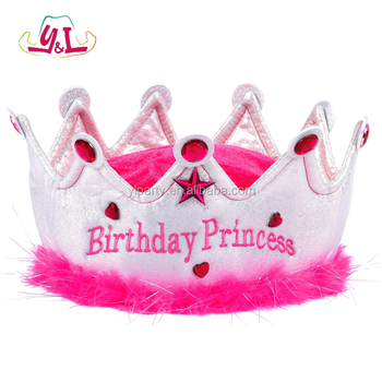 2017 New Arrivals Princess Themes Party For Pink Crown Jewelry Birthday Top Hat Buy Princess Party Princess Crown For Girls Party