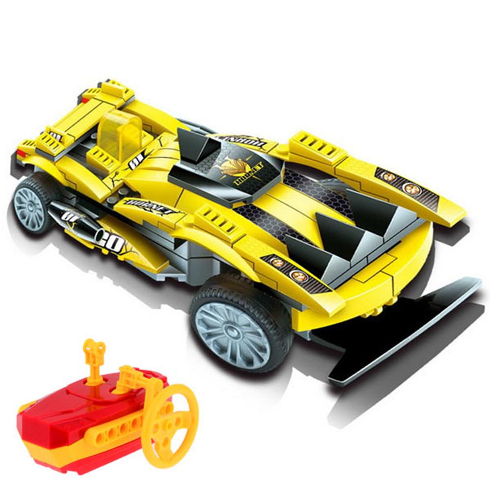educational toys building block vehicle rc car assembling toys remote control car model kid toy. Black Bedroom Furniture Sets. Home Design Ideas