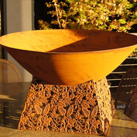 Funny outdoor wood burning small round fire bowl for backyard