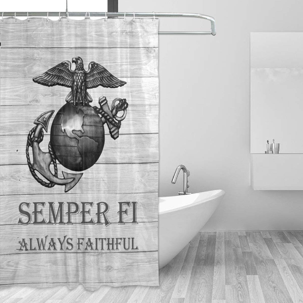 Get Quotations Donnapink USMC US Marine Corps Semper Fi Waterproof 60X72 Shower Curtain Polyester Fabric