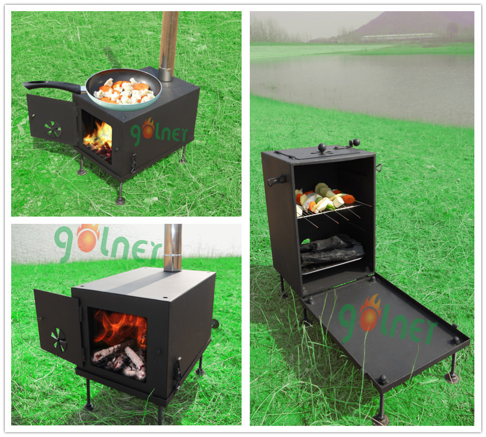 C-14 Camping Bbq Stove/wood Stove Oven/portable Cooking ...