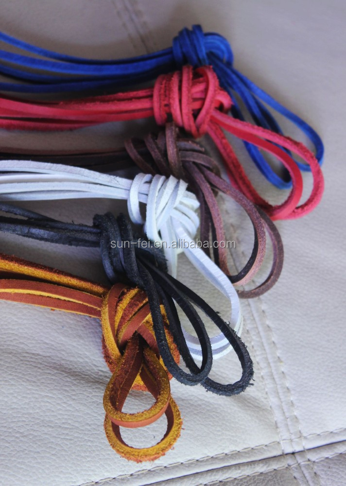 Hot Sale High Quality Genuine Leather Laces For Boots And Shoes~100% Real Leather Laces~9 Colors Available