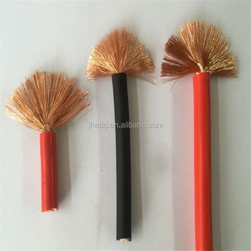 rubber/pvc insulated 4/0 2/0 1/0 awg gauge power welding cable