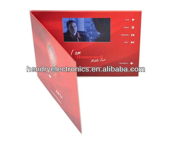 Promotion TFT LCD video in print for wedding invitation