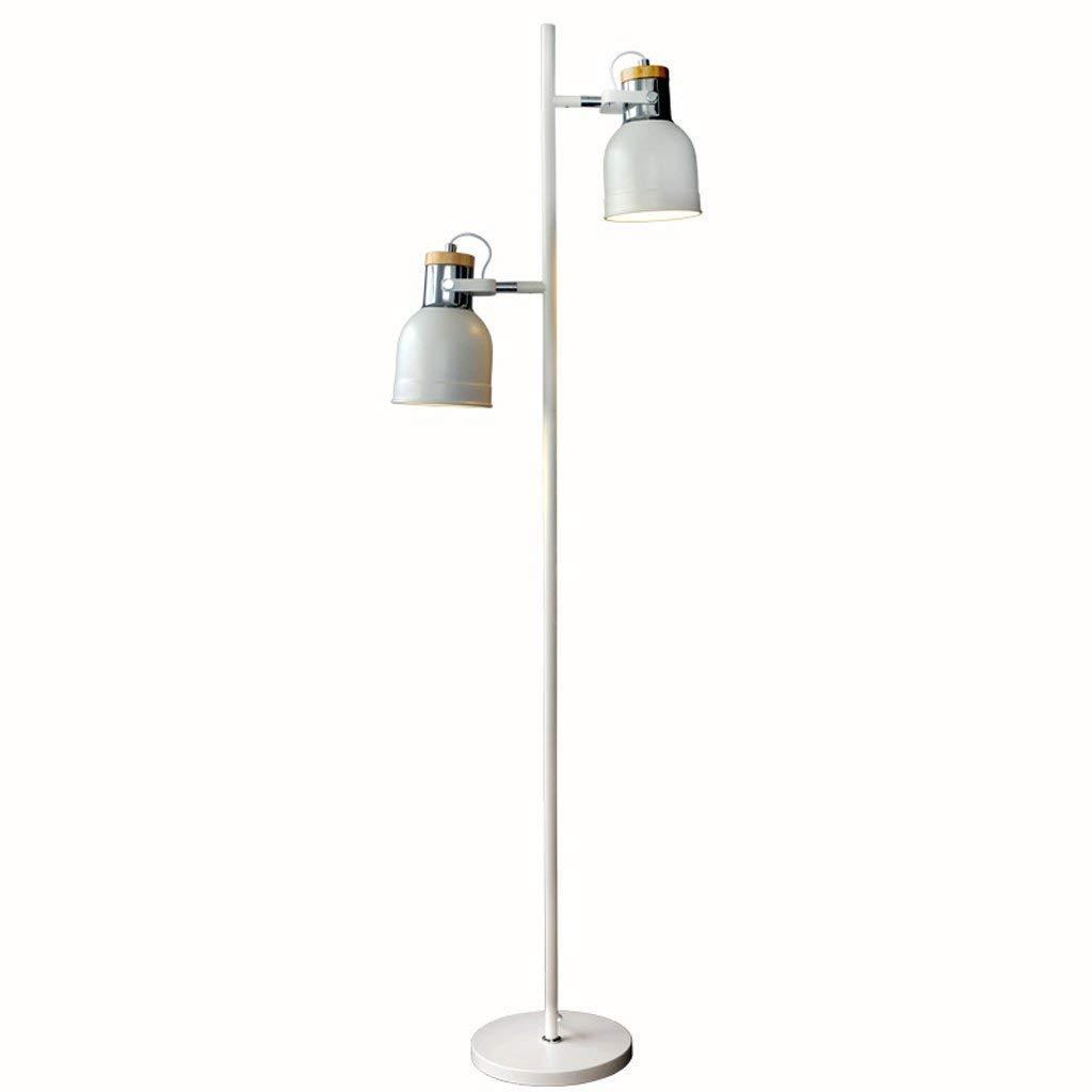 SED Floor Lamp-Led Nordic Modern Simple Floor Lamp, Creative Double-Headed Floor Lamp, Living Room Study Floor Lamp, Decorative Vertical Lamp Eye Protection Vertical Table Lamp