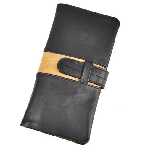 Competitive Mens Organizer Wallets Polyester Lining Mens Business Wallets 100% Natural Cowhide Genuine Leather Material