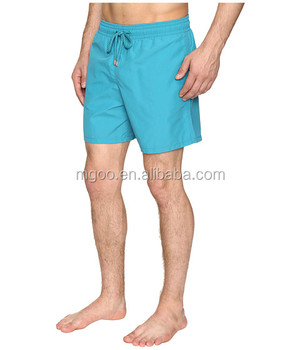 55eab3ffab Customized Color Solid Swim Trunk With Side Pockets 100% Polyamide Bathing  Suit Men's Board Shorts