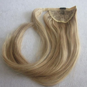 factory cheap good quality human hair ponytail hair extensions clip in short ponytail
