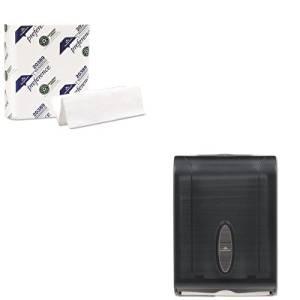 KITGEP20389GEP5665001 - Value Kit - GP 566-50/01 Translucent Smoke Combination C-Fold or Multifold Paper Towel Dispenser (GEP5665001) and Georgia Pacific Multifold Paper Towels (GEP20389)
