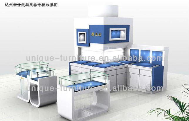 cosmetics/perfume/skin care products display kiosk design in shopping mall