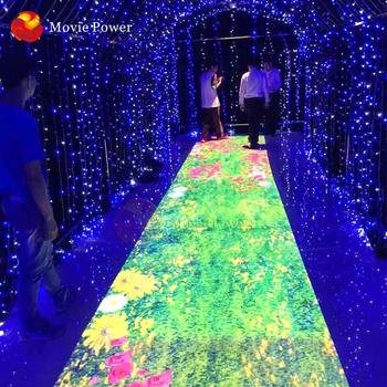 Earn money 3D hologram Interactive floor projection game simulator indoor play advertising interactive ground projection for kid