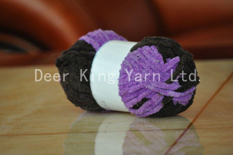 Poliéster Chenille De Lujo Tejer A Mano Bufanda Crochet Hilo - Buy ...