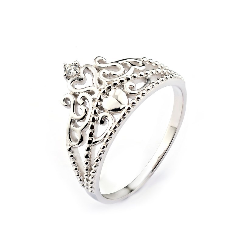 caa5c6989667 Plata de ley 925 princesa corona diseño fiesta anillo para las muchachas  lindas-Joyería de anillos pandora precios
