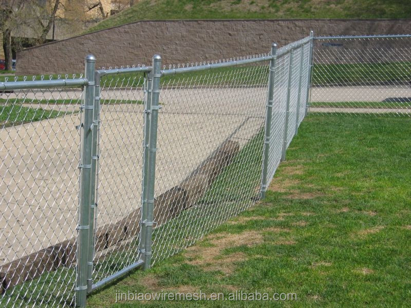 Galvanized chain link mesh gate rolled wire
