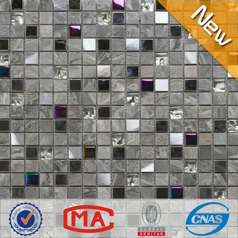 Piedra de vidrio mosaico de azulejos de mosaico moderno patrón ...