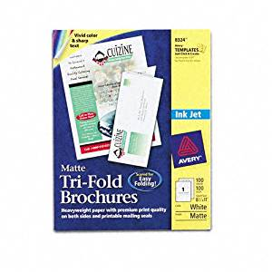 Avery : Brochure/Flyer Paper for Inkjet Printers, Matte White, Letter, 100 Sheets/Box -:- Sold as 2 Packs of - 100 - / - Total of 200 Each