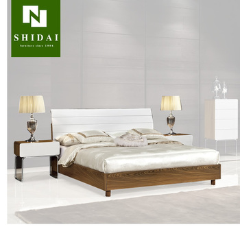 Modern Teen Bedroom Furniture / Indian Furniture Bedroom Beds / Bedroom  Furniture Simple Double Bed B