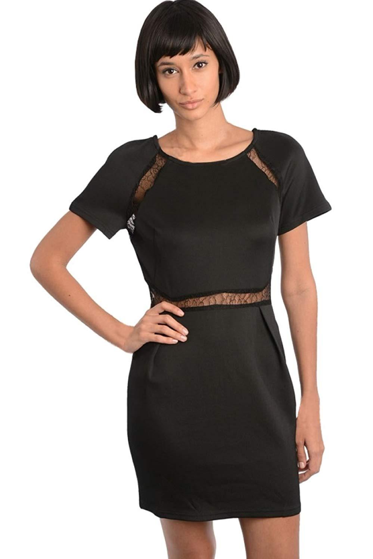 7349491879 Get Quotations · 2LUV Women s Lace Cut Out Sheath Mini Dress