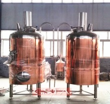 beer brewing equipment red copper mash tanks, red copper mash lauter tank