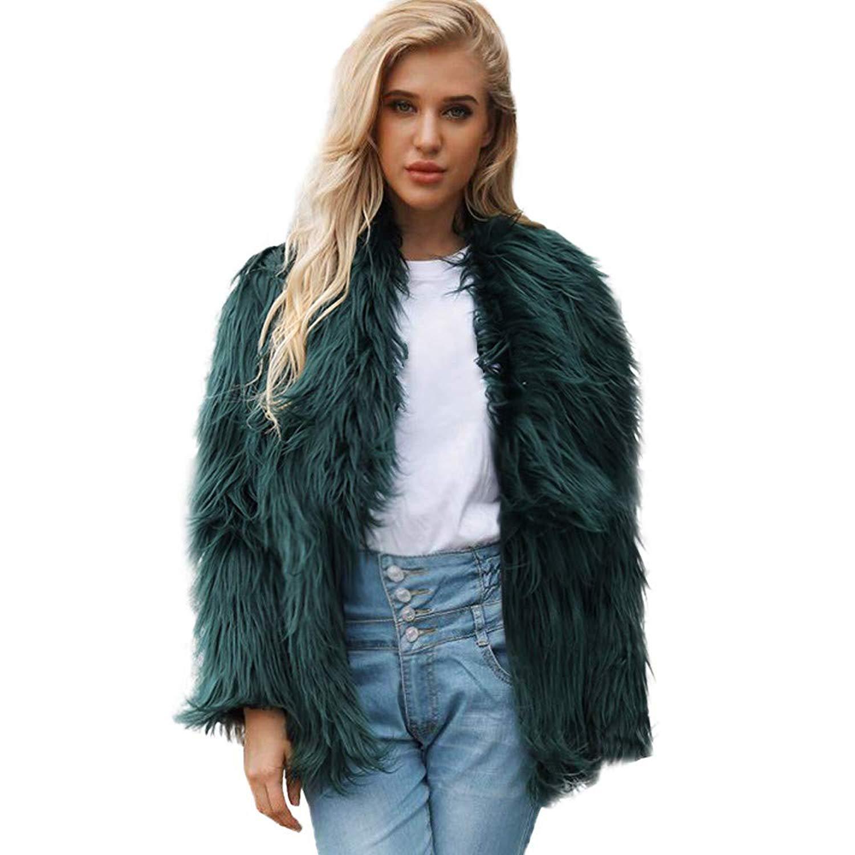 Clearance!! Amiley Parkas Women Winter,Womens Jackets Winter Warm Faux Fur Parka Outwear Cardigan Coat