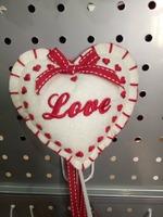 2017 Top sale felt heart ornament home decoration