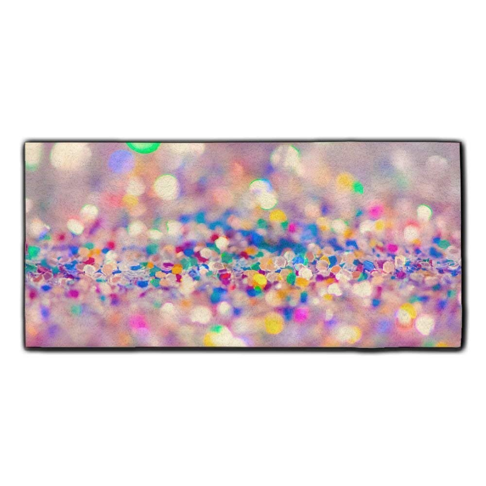 Baerg Microfiber Super Absorbent Face Towel Colorful Glitter Hair Care Towel Gym And Spa Towel