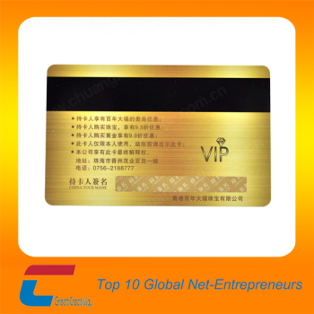 Or Mtallique Fond Carte De Visite Vip En Plastique Cartes