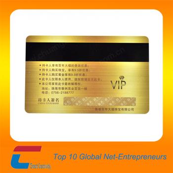 Dore Fond Metallique Carte De VisiteOr En Plastique Vip Cartes