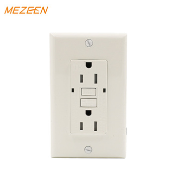 Tamper Resistant Grounding duplex receptacle 15 amps gfci for bathroom