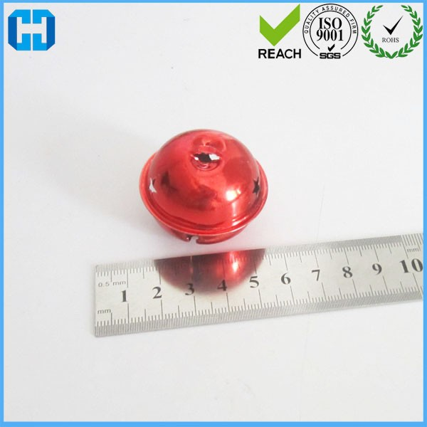 30 MM Large Star Shape Round Metal Bell With Red Plated