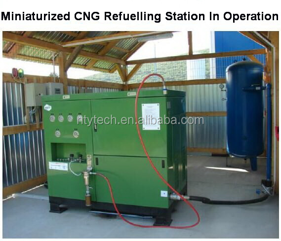 Highly Integrated Miniaturized Mobile CNG Refueling Station Included Gas Compressor Boosting Pressure From Atmosphere Upto 20Mpa