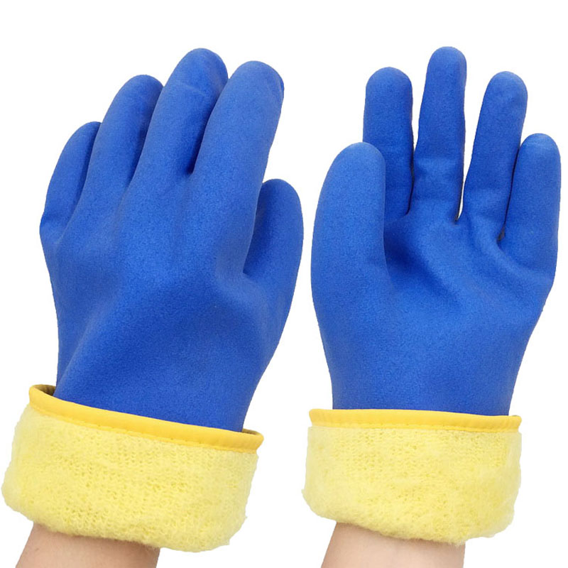 Light weight anti sweat glove waterproof winter glove warm flexible pvc gloves