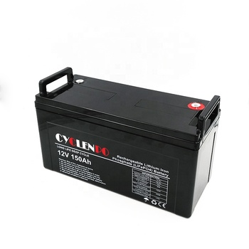 Rechargeable li ion 12v 12.8v 150ah lifepo4 solar battery for sale