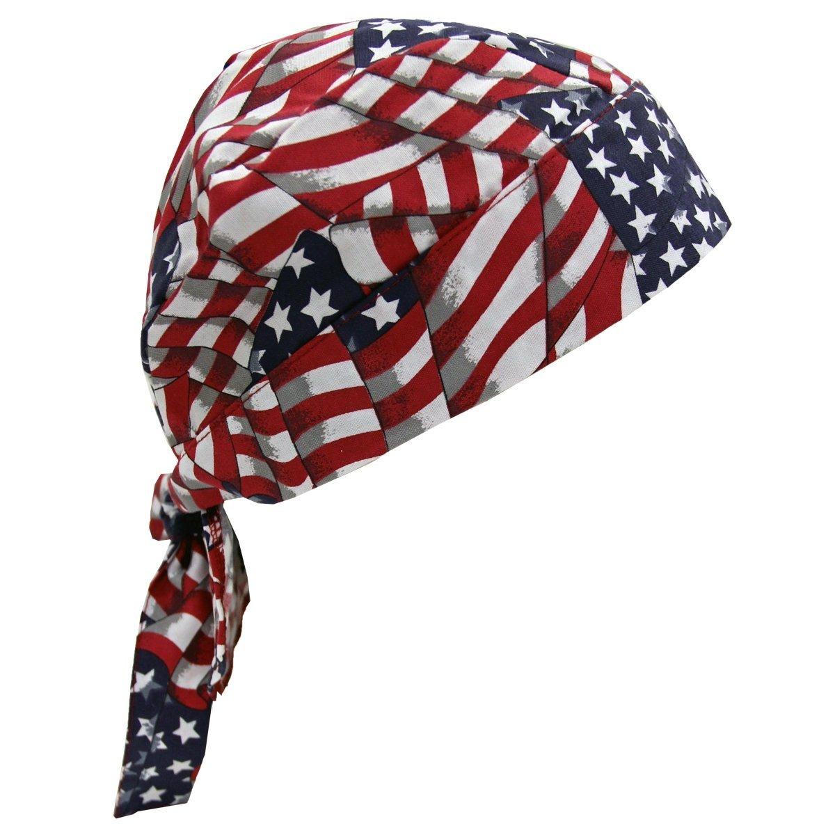1 NEW Doo Rag Rags  American Flag USA FLAG US FLAG 100/% Cotton